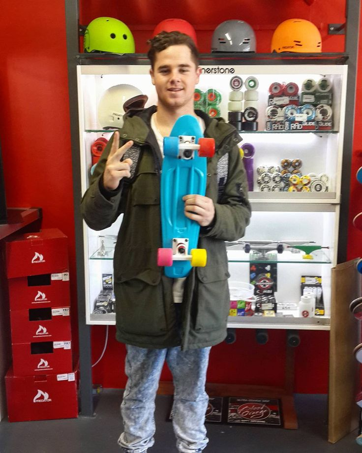 There's so much stoke on this #madstokemonday that @uncle_evz couldn't even stand still to take this one of @jay_jay_wtf when he came in to get himself the multi-coloured @weareverb Reto Roller!  Skate safe enjoy it & stay stoked bro!  #csskateshop x #verb