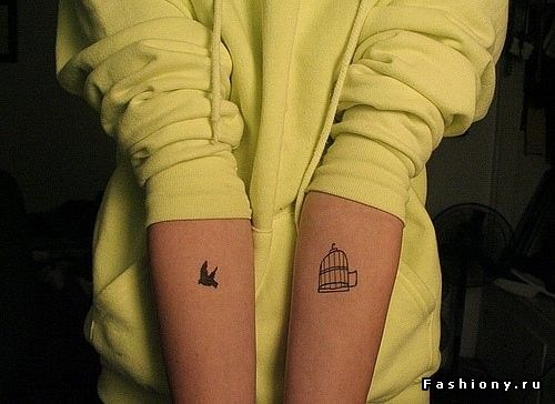 Красивые татуировки / татуировка на шее женская