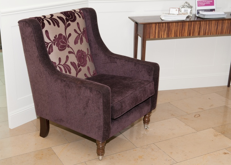 Armchair made in Ireland and available in many fabrics. Available through Conbu Interior Design www.conbudesign.com