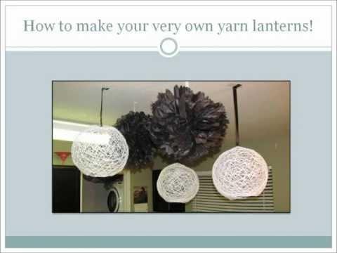 How to make a yarn lantern