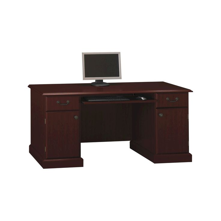 Bennington Credenza from kathy ireland Office by Bush Business Furniture, Red
