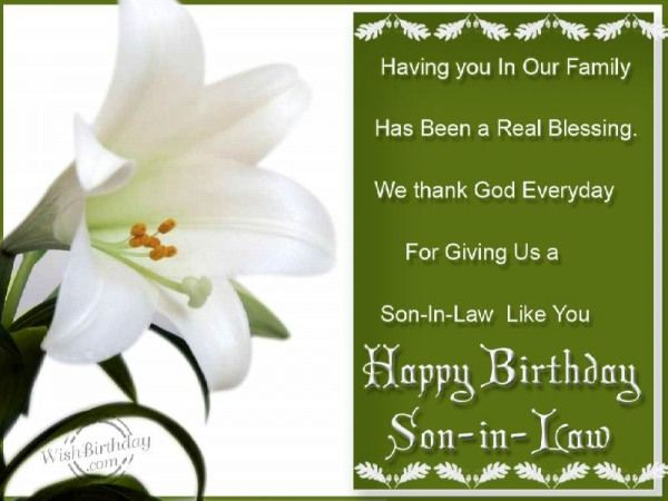 Happy Birthday Wishes For Son In Law: 91 Best BIRTHDAY SON-IN-LAW Images On Pinterest