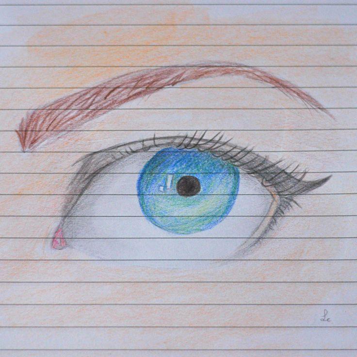 "eye drawing (sketchbook), inspired by ""Feavre's eye tutorial by feavre.deviantart... on @deviantART"""