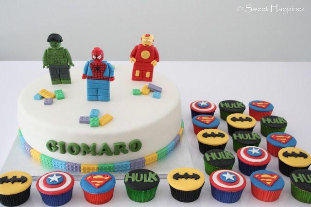 Lego Avengers Cake & Cupcakes