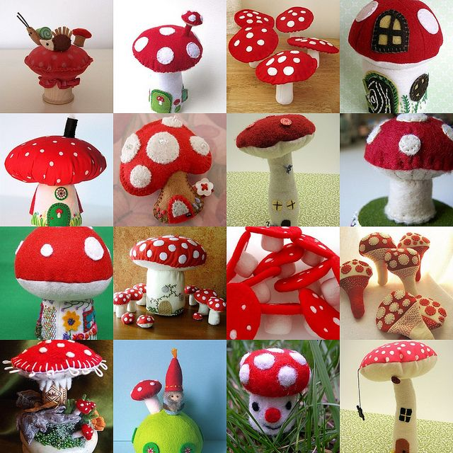 Love the mushrooms....(i do, too!! great variety of absolute cuteness!!)....