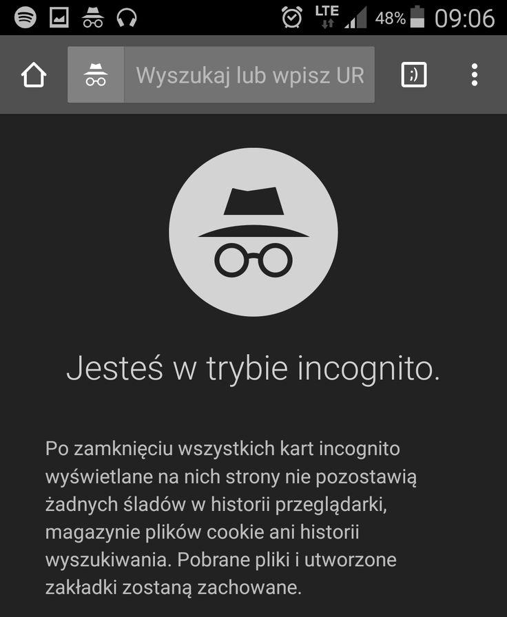 100. zakładka otwarta w Google Chrome w trybie incognito