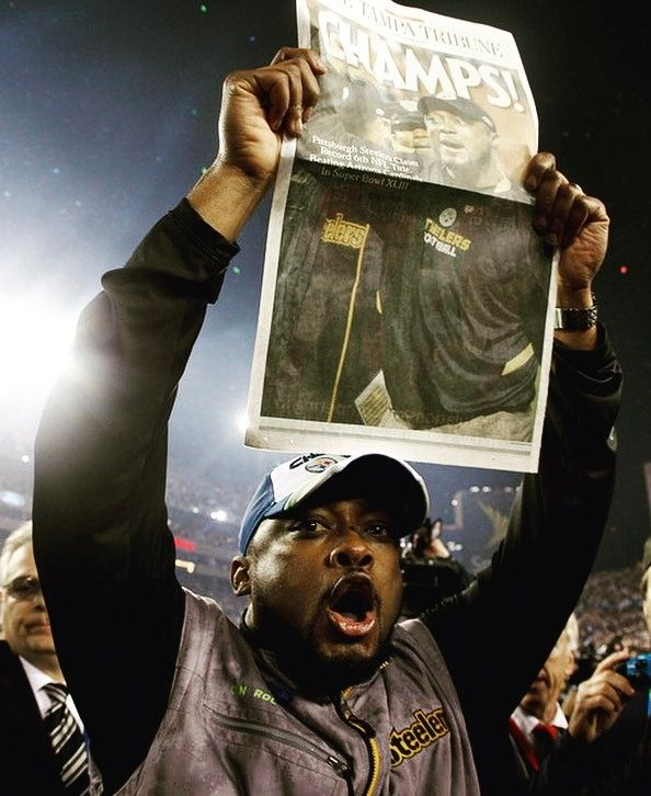Happy Birthday Mike Tomlin! This Picture of Coach Tomlin is after winning Super Bowl XLIII in 2009 against the Arizona Cardinals 27-23! Making him the youngest coach in #NFL history to win a Super Bowl #Steelers #SteelersNation #SteelersHistory