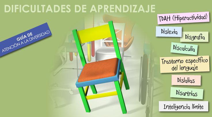 http://www.orientacionandujar.es/2012/02/23/11-guias-utiles-para-docentes-que-trabajan-con-alumnos-de-nee/ Guías para docentes para tratar las dificultades de aprendizaje, como por ejemplo Dislexias, Dislalias, TDAH... #DificultadesDeAprendizaje