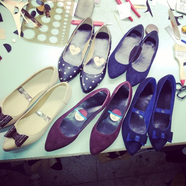 Working late means happy customers :) @kali_shoes- #webstagram #shoes #love #caption #kalishoes