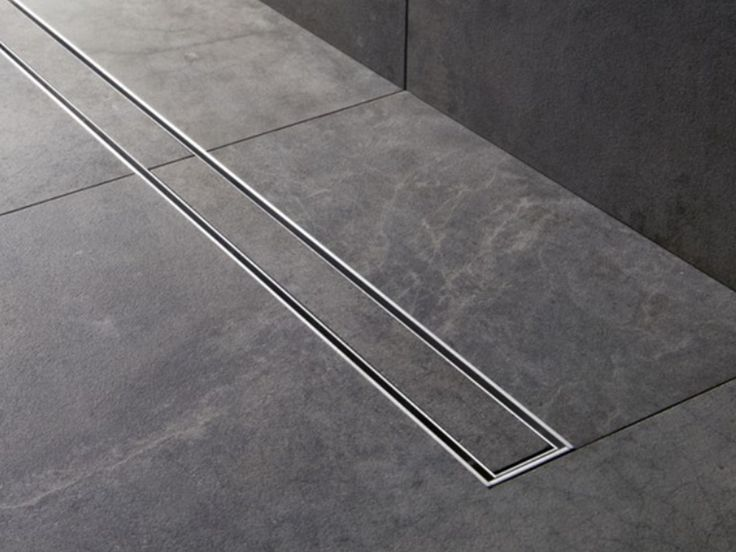 "60"" Linear Shower Drain - master double shower"