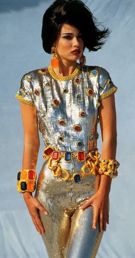 CHANEL-Early 90s fierceness. It's not actually MY style...but so cool and weird...