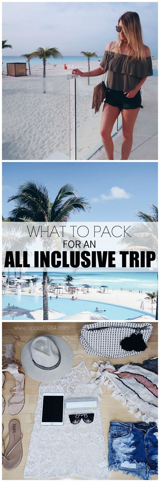 Hi ladies! Today I'm sharing my tips for packing for an all-inclusive vacation. I've taken several trips down south, and I like to think it gets easier each time, but alas there is always some last minute packing going on over here.  I also wanted to note that I pulled almost all of these items from my closet, versus…