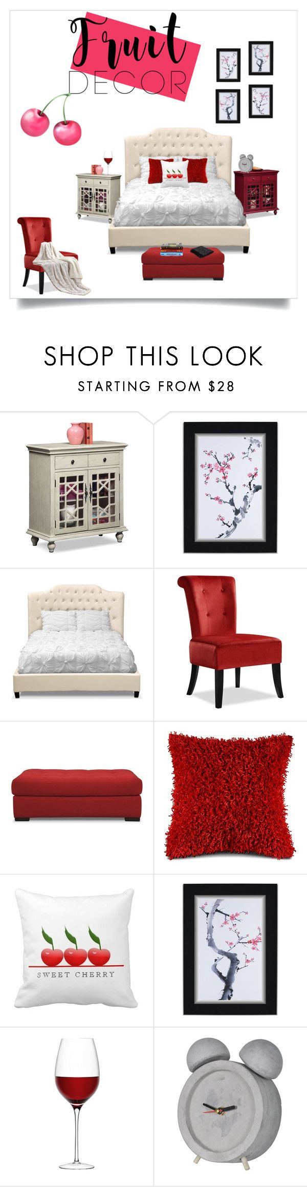 """""""cherry picking season"""" by valuecityfurn ❤ liked on Polyvore featuring interior, interiors, interior design, home, home decor, interior decorating, LSA International, Jaipur and bedroom"""