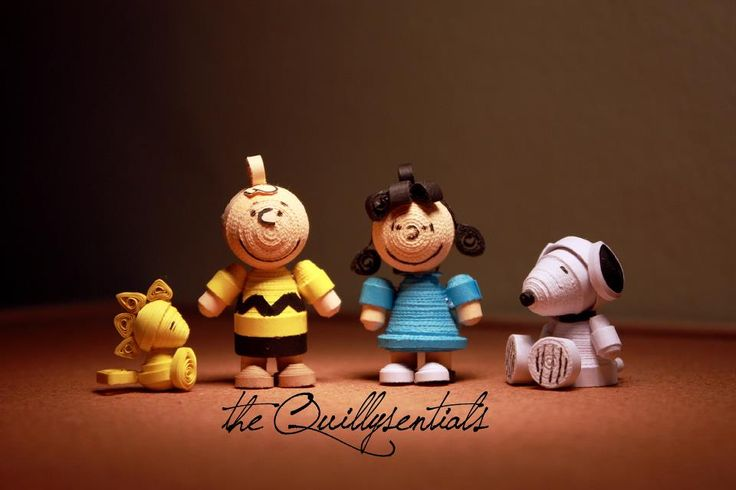 snoopy anf friends quilling