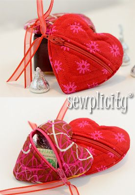 Uber cute sew it yourself heart shaped coin purse tutorial