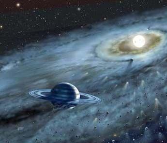 La teoría del estado estacionario es una teoría cosmológica propuesta a mediados del siglo XX, para dar cuenta de ciertos problemas cosmológicos. De acuerdo con la teoría del estado estacionario, la disminución de la densidad que produce el Universo al expandirse se compensa con una creación continua de materia.