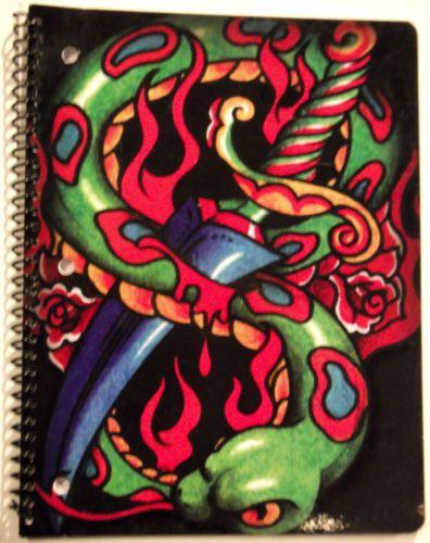 Tattoo-Johnny-Snake-Dagger-Composition-Notebook-8-x10-5