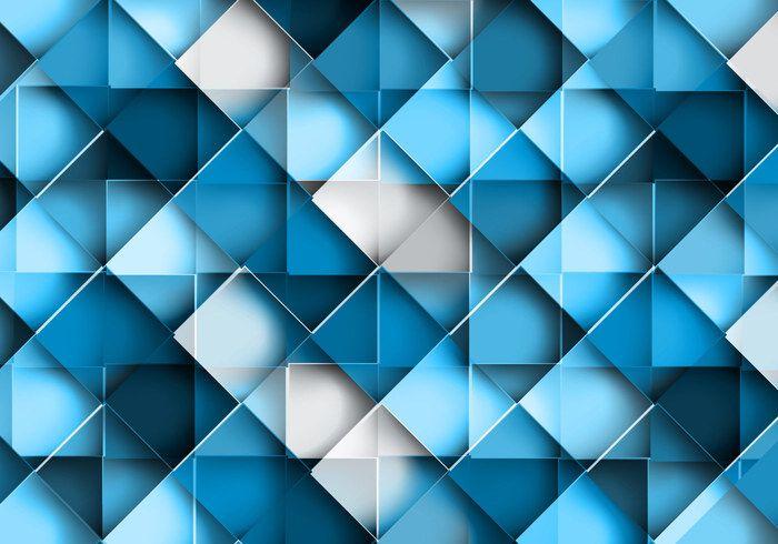 Seamless Geometric Blue Pattern