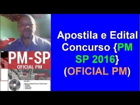 Apostila e Edital Concurso Público PM / SP 2016 Cargo: Oficial PM