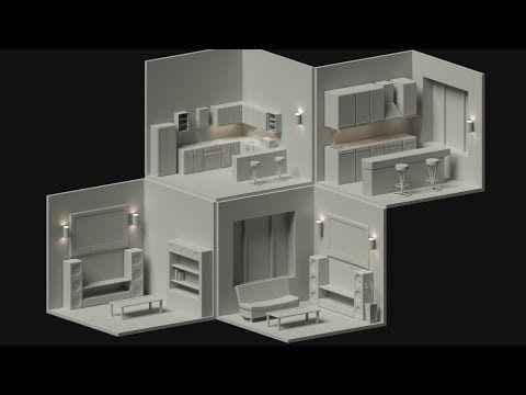 Blender Modeling An Isometric Cutaway House Part 5