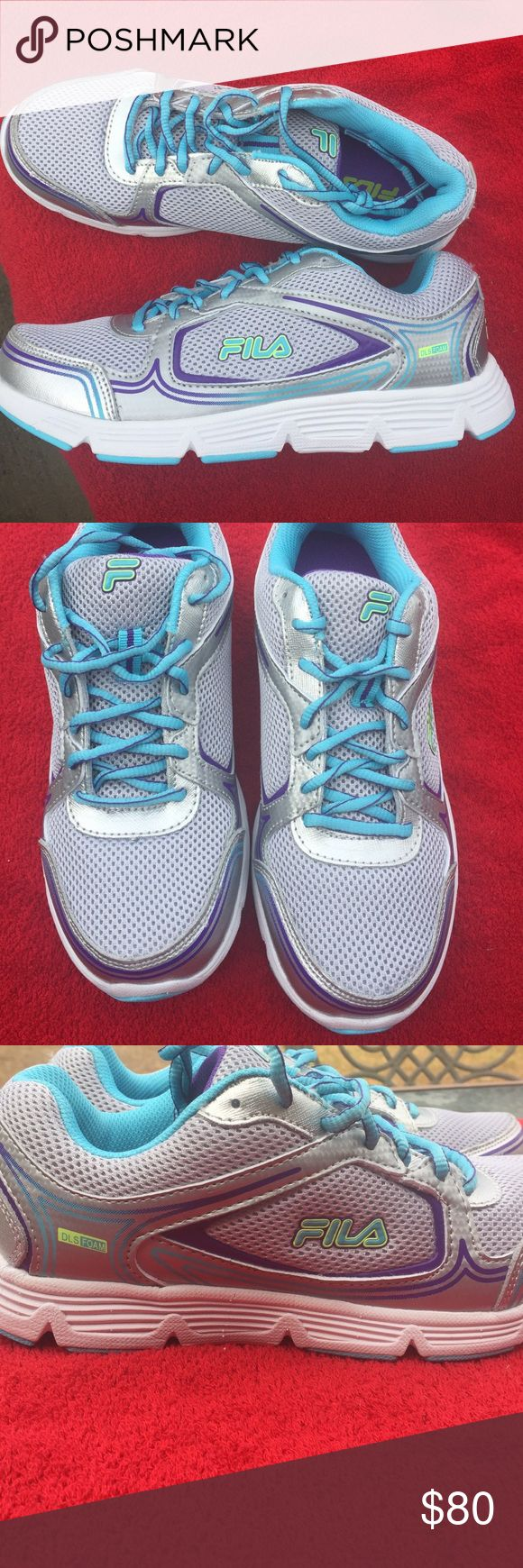 New Fila Running Shoes!! New Fila Running Shoes. Size 9. Very cute. Please check out my closet, as I am listing new items daily. Fila Shoes Sneakers