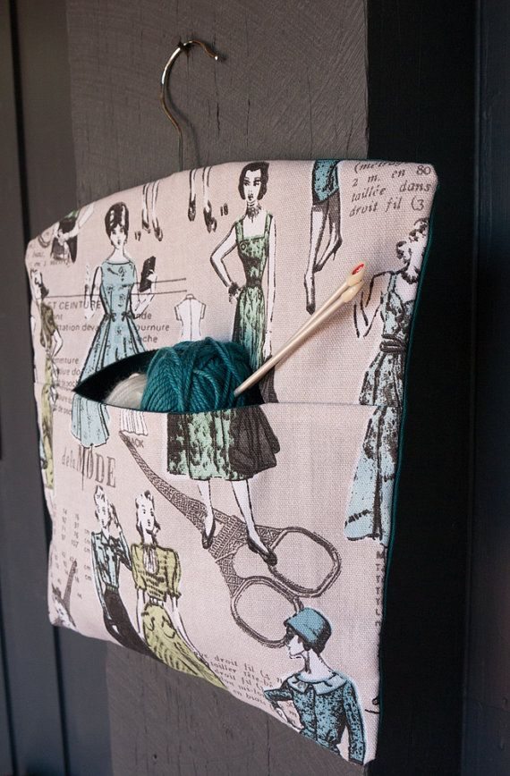 Fabric handmade vintage French fashion themed peg by freshdarling