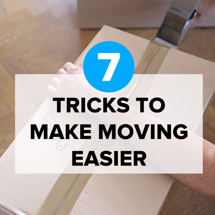 7 Tricks To Make Moving Easier #packing #moving #organize