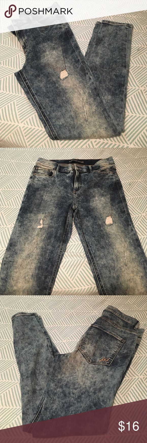 Express acid wash jeans Take me back to the 80's with these! Acid wash jeans from express, never been worn! Express Jeans Skinny