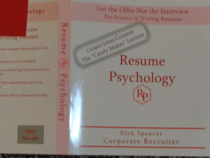 13 best Resume Psychology The Book images on Pinterest - psychology resume