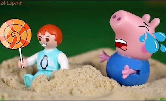 Peppa Pig Juguetes en Español #88 🐷 George se enfada con un bebé