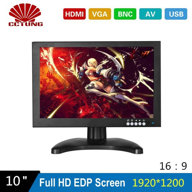 101.25$  Watch now - http://alie3p.worldwells.pw/go.php?t=32789598501 - 10 Inch EDP 1920X1200 CCTV Monitor with Metal Shell & HDMI VGA AV BNC Connector for PC Multimedia & Donitor Display & Microscope