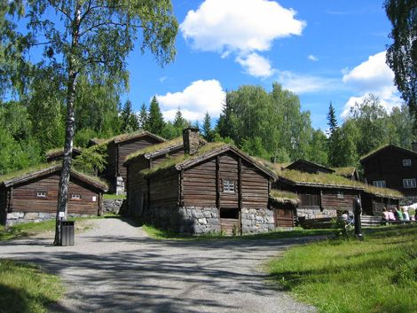 Maihaugen is an open air museum with 200 old and new buildings, exhibitions, cafes and lots of activities.