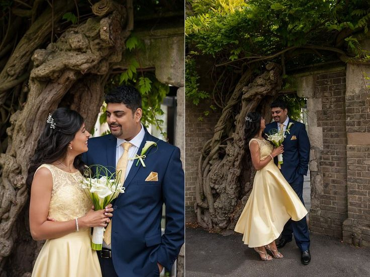 North London Wedding at Stephens House in Finchley | Yellow wedding dress | Arum lily bouquet | Photo by www.katforsyth.com #stephenshouse #londonwedding