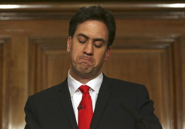 Britain's opposition Labour Party leader Ed Miliband announces his resignation as leader at a news conference in London, Britain May 8, 2015. REUTERS/Neil Hall