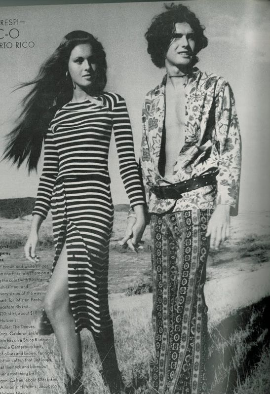 Vintage Vogue 1970s Bohemian Chic O Puerto Rico Shoot