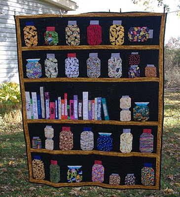 35 best bookcase quilts images on pinterest bookshelves for Kitchen quilting ideas