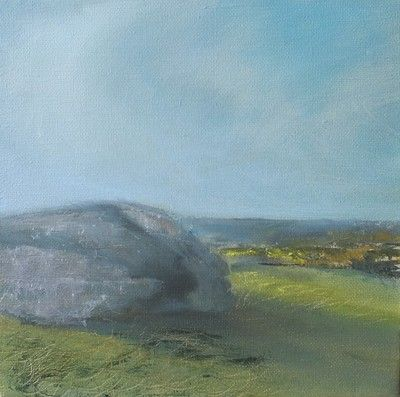 Spring On Dartmoor 20cm x 20cm plein air oil painting by Devon artist Julie Dunster, pressing life's pause button