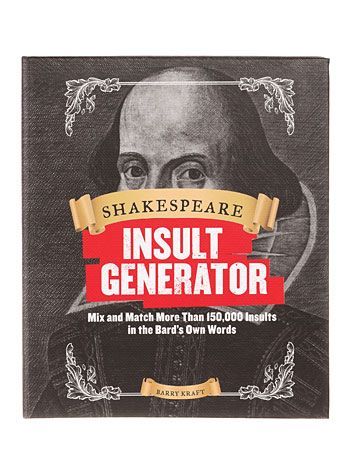 Shakespeare Insult Generator at PLASTICLAND