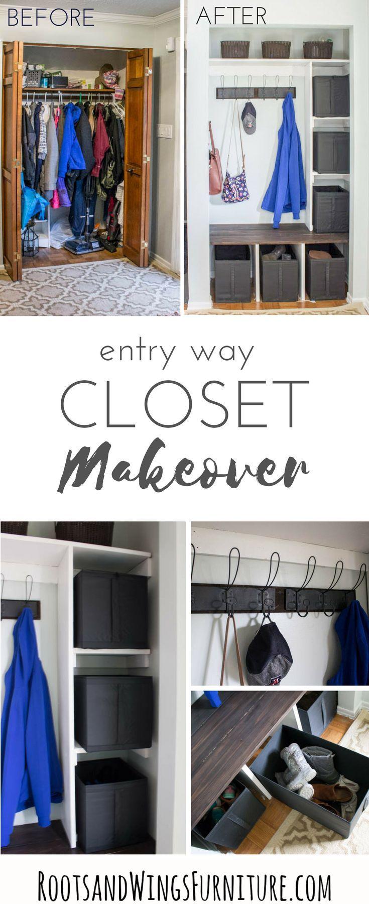 Entry Way Closet Makeover Closet Makeover Closet Remodel