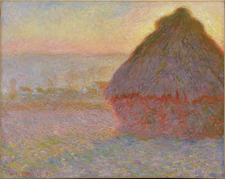146クロード・モネ<積みわら(日没)>1891年Grainstack (Sunset) | Museum of Fine Arts, Boston