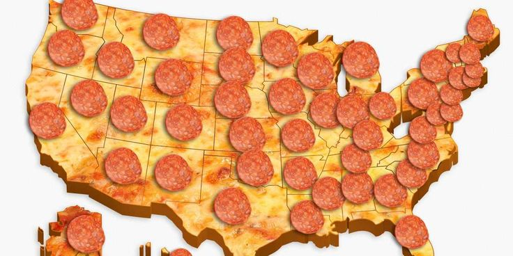 This Map Shows The Most Popular Pizza Topping In Every State