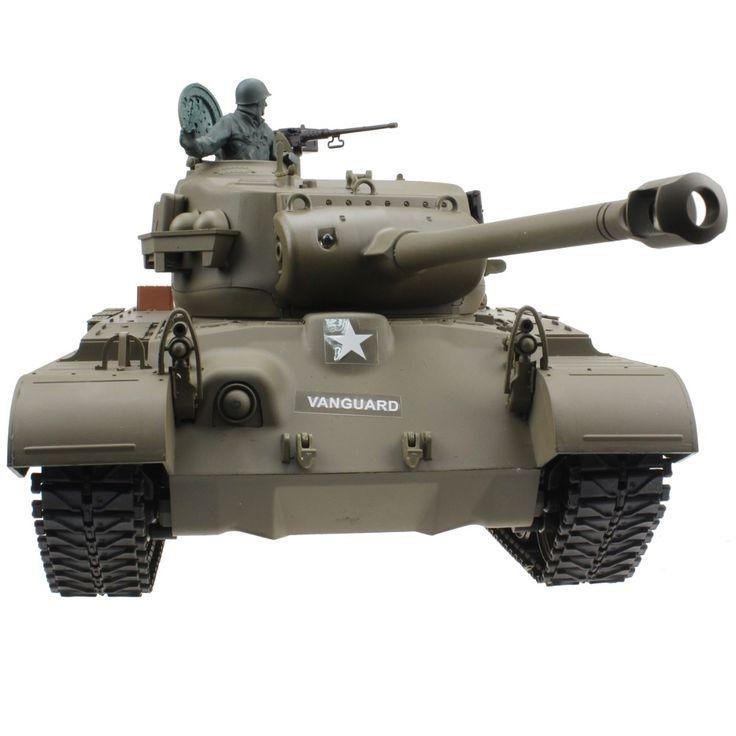 190.00$  Buy now - http://alimxi.worldwells.pw/go.php?t=32786749877 - 2.4G 1/16 US Snow Leopard Pershing M26 Radio Control Tank Shooting Smoking Sounding Effect World War II Tank RC Model Gift Toy 190.00$