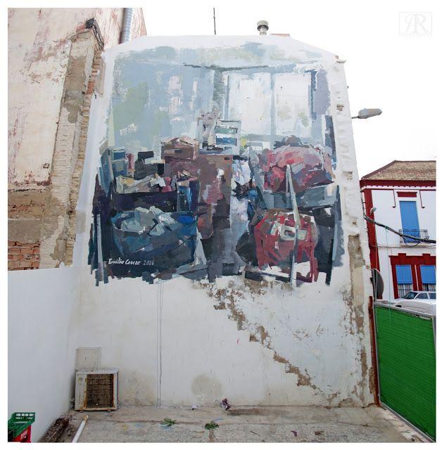 """EMILIO CEREZO  .. """"Transición"""" .. for Festival d Arte Urbano Museo del Mar Menor ..  [Los Alcazares, Spain 2016]"""