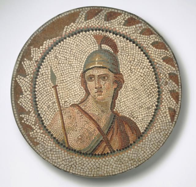 Little Known Roman Jewish Mosaic Art, Hamman Lif Synagogue in Tunisia: The Personification of Roma (1st-2nd cent. A.D.) - Brooklyn Museum