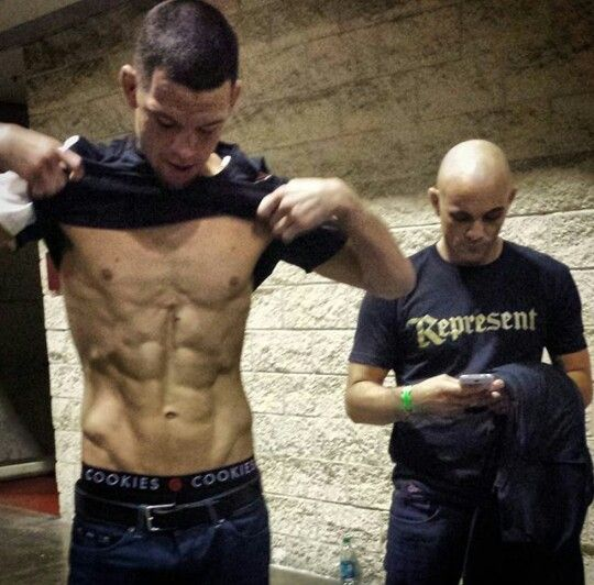 Nate Diaz cutting weight for 155 bout with Michael Johnson
