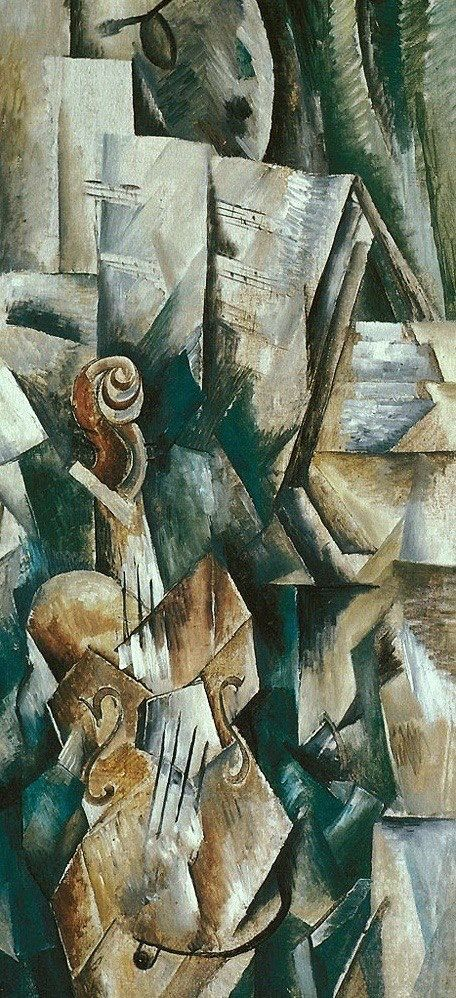 Georges Braque (French, Cubism, 1882–1963): Violin and ...