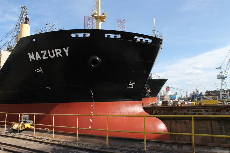 The second class repair of MS Mazury in Nauta  Shiprepair Yard photo:J. Staluszka