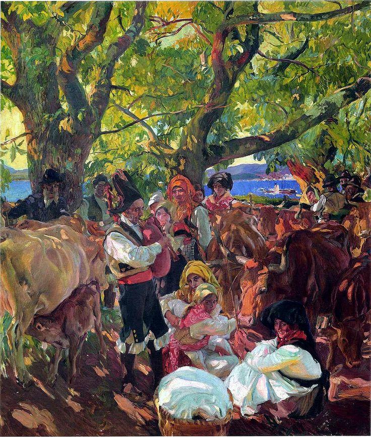 """Joaquín Sorolla y Bastida  """" La Feria de Ganado """""""