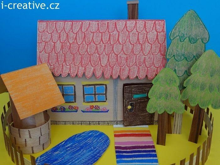 Tvoření z dýhy - domeček