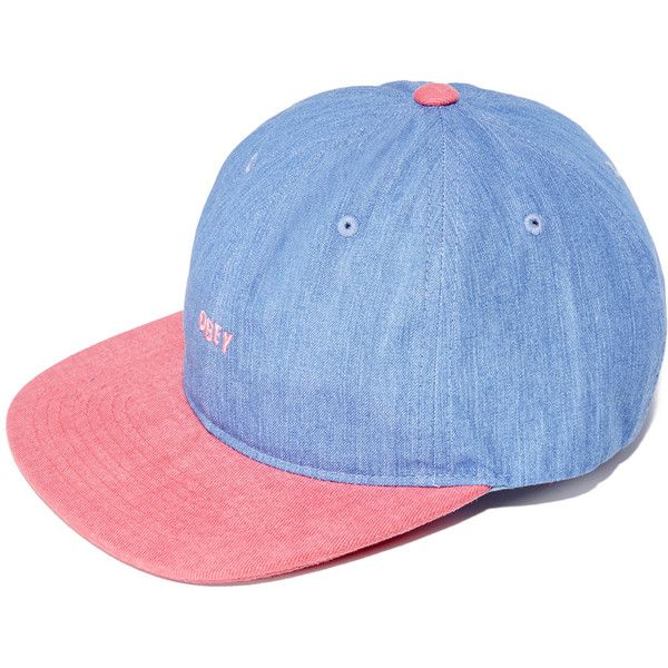 Obey Underground 6 Panel Cap (¥1,735) ❤ liked on Polyvore featuring men's fashion, men's accessories, men's hats, magenta, mens flat hats, mens caps and hats and men's brimmed hats